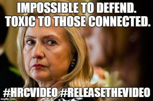 q Hillary meme Releasethevideo